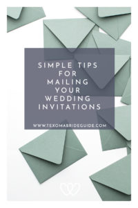 Simple Tips for Mailing Your Wedding Invitations