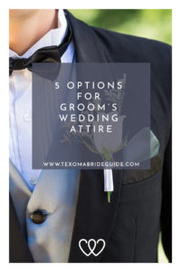 5 Options for Groom's Wedding Attire