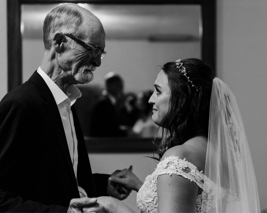 Father daughter first look photo